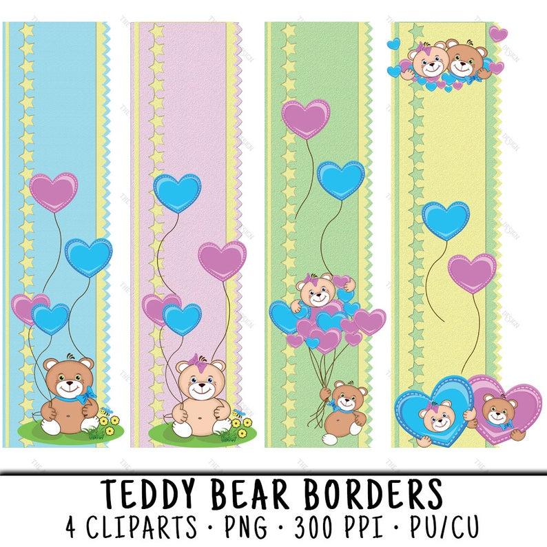 Border Clipart, Teddy Bear Border, Animal Border PNG, Border Clip Art, PNG  Animal Border, Baby Border Clipart, Teddy Bear Scrapbook.