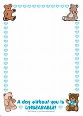 Teddy Bears Clip Art Borders.