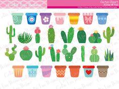 Cactus Clipart, Cactus Clip Art, Tribal Clipart, Tribal Clip Art.