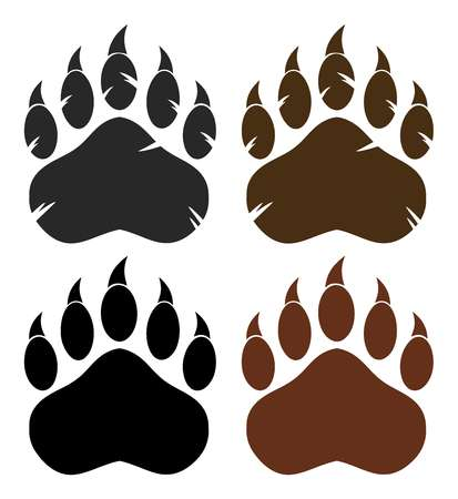 9,922 Bear Paw Stock Vector Illustration And Royalty Free Bear Paw.