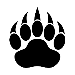 Bear Paw Print Silhouette.