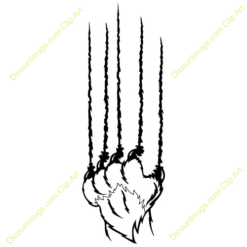 Download Free png Bear Claw Marks Clipart.