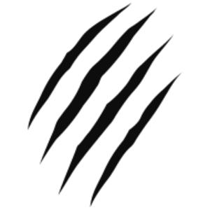 Claw Marks Design clip art.
