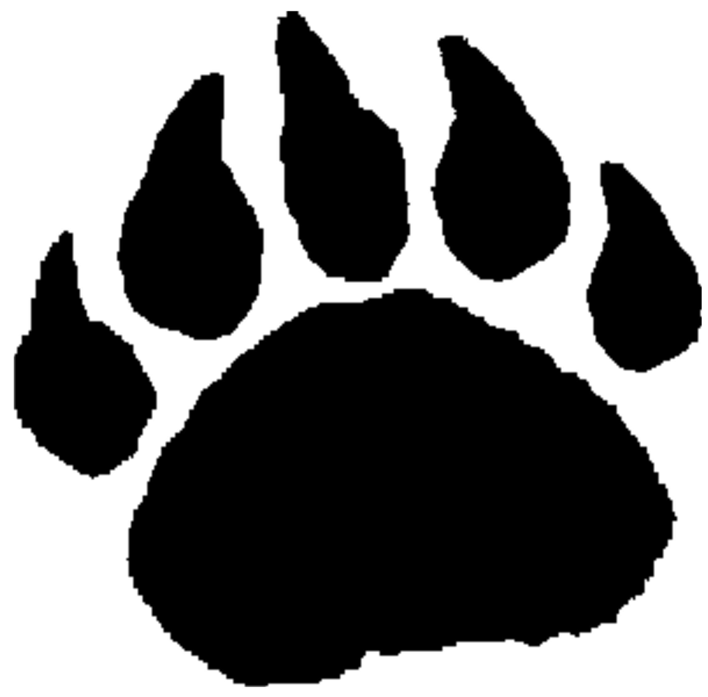 391 Bear Paw free clipart.