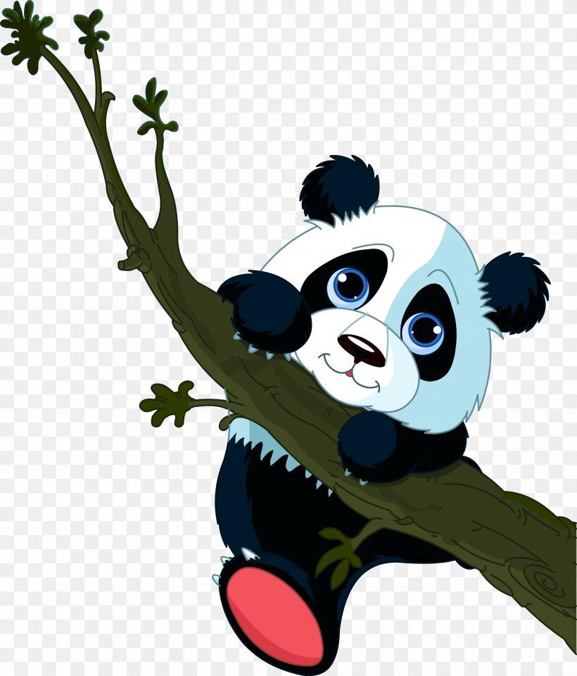 Giant Panda Tree Climbing Cuteness Clip Art, PNG.