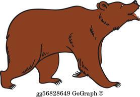 Brown Bear Clip Art.