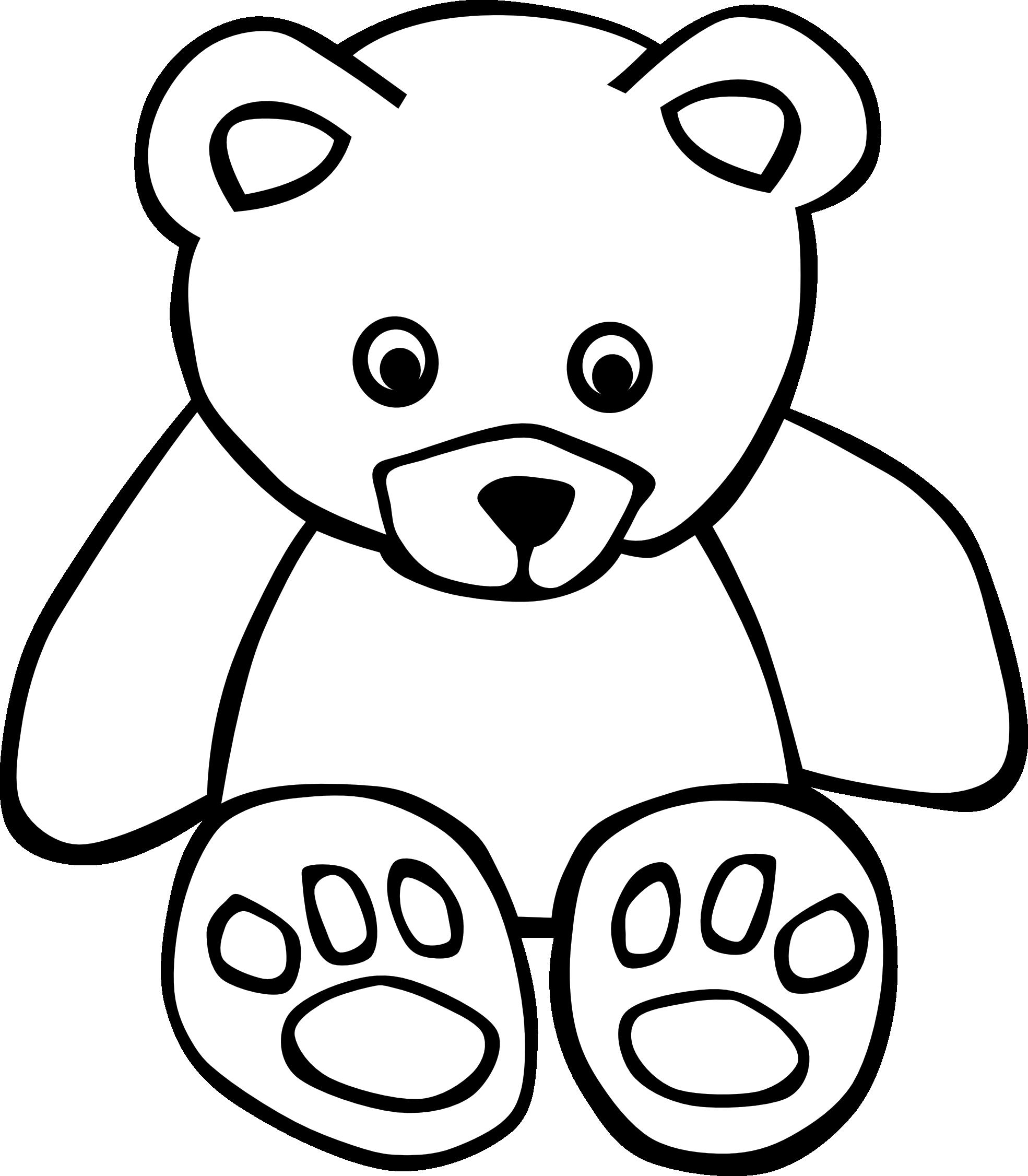 1271715 83 bear black white line art teddy bear.