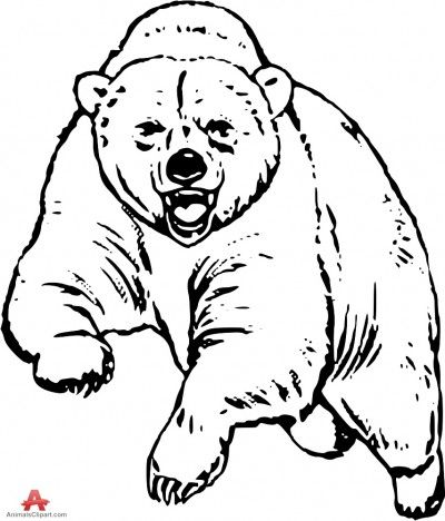 Bear black and white free bear clipart 1 page of clip art.