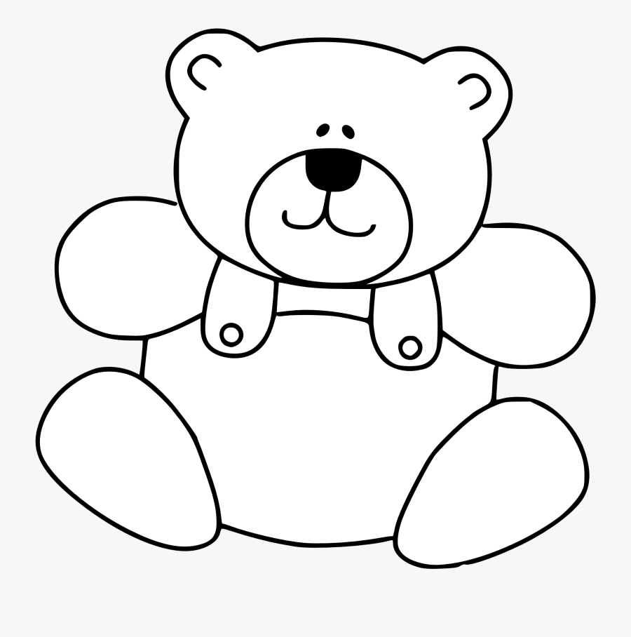 Teddy Bear Png Black And White , Free Transparent Clipart.