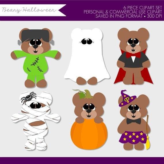 Halloween Clipart,Halloween Clip Art,Teddy Bear Clipart,Costume.