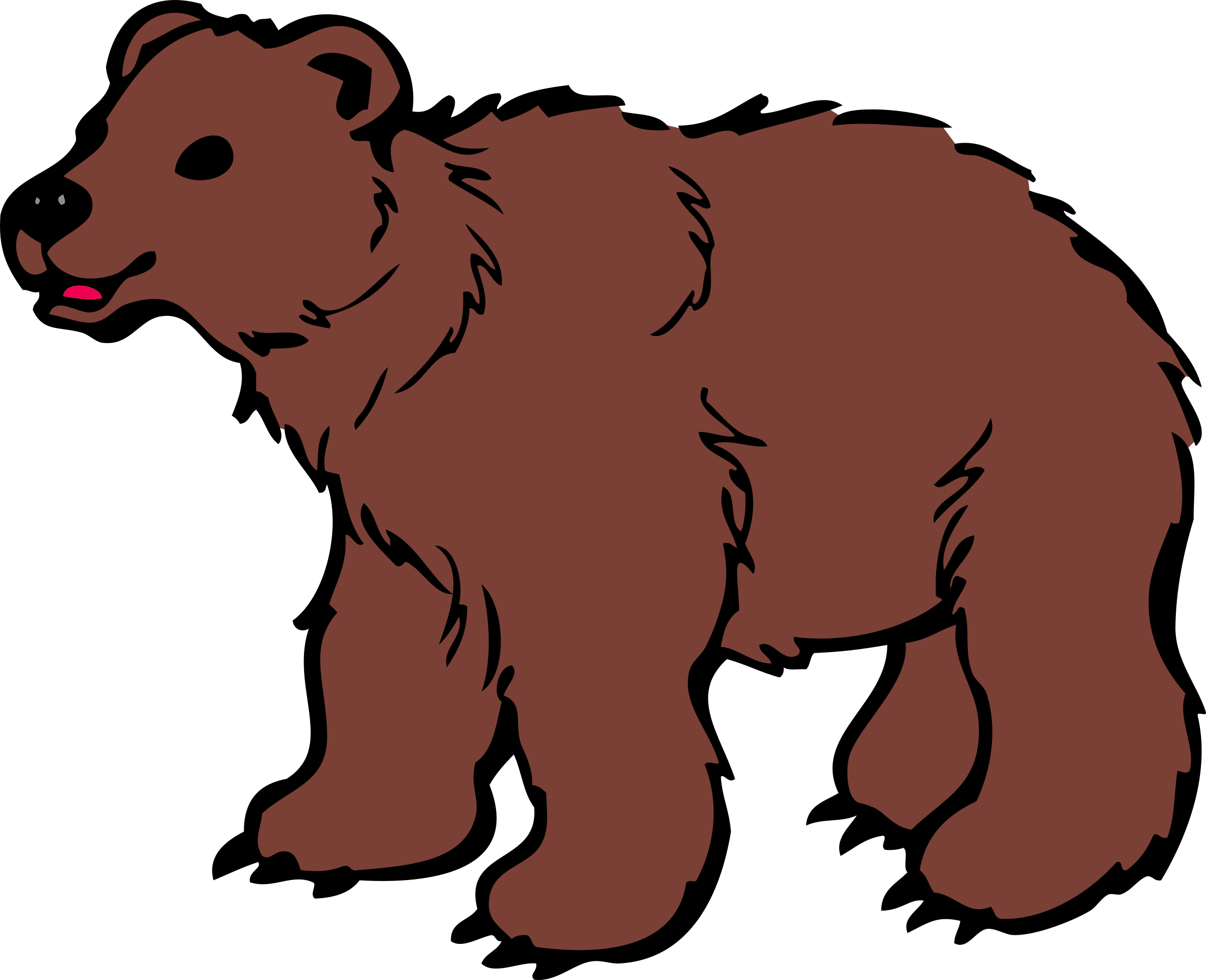Polar bear American black bear Clip art.