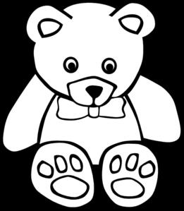 Teddy Bear Outline Clip Art at Clker.com.