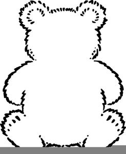 Teddy Bear Clipart Outline.