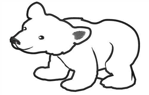 Polar Bear Clipart Outline.