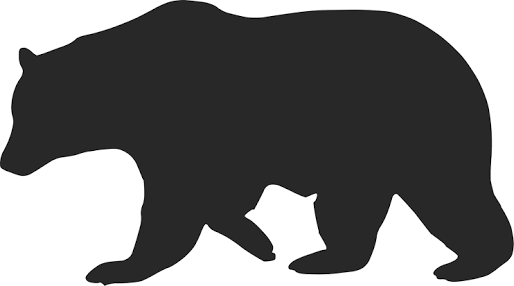 Image result for silhouette polar bear clipart.