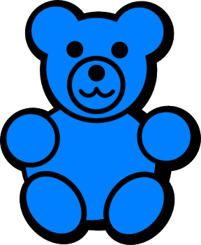Bear Clipart Two Color.