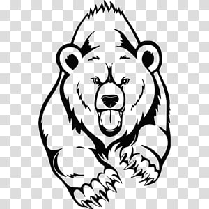 Painted Bear transparent background PNG cliparts free.