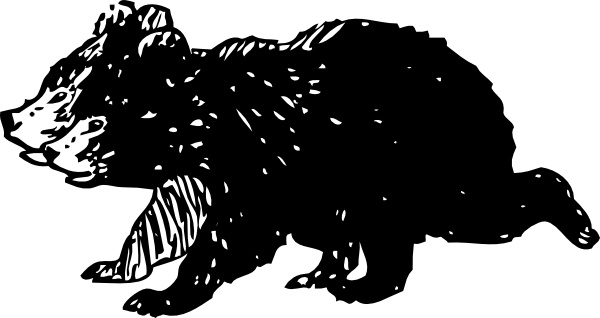 Black Bear Cubs clip art Free vector in Open office drawing svg.
