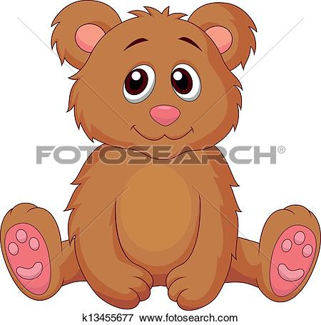Clip Art of Cute baby bear cartoon k13455677.