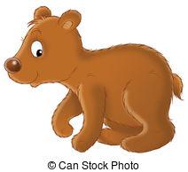 Clipart bear cub.