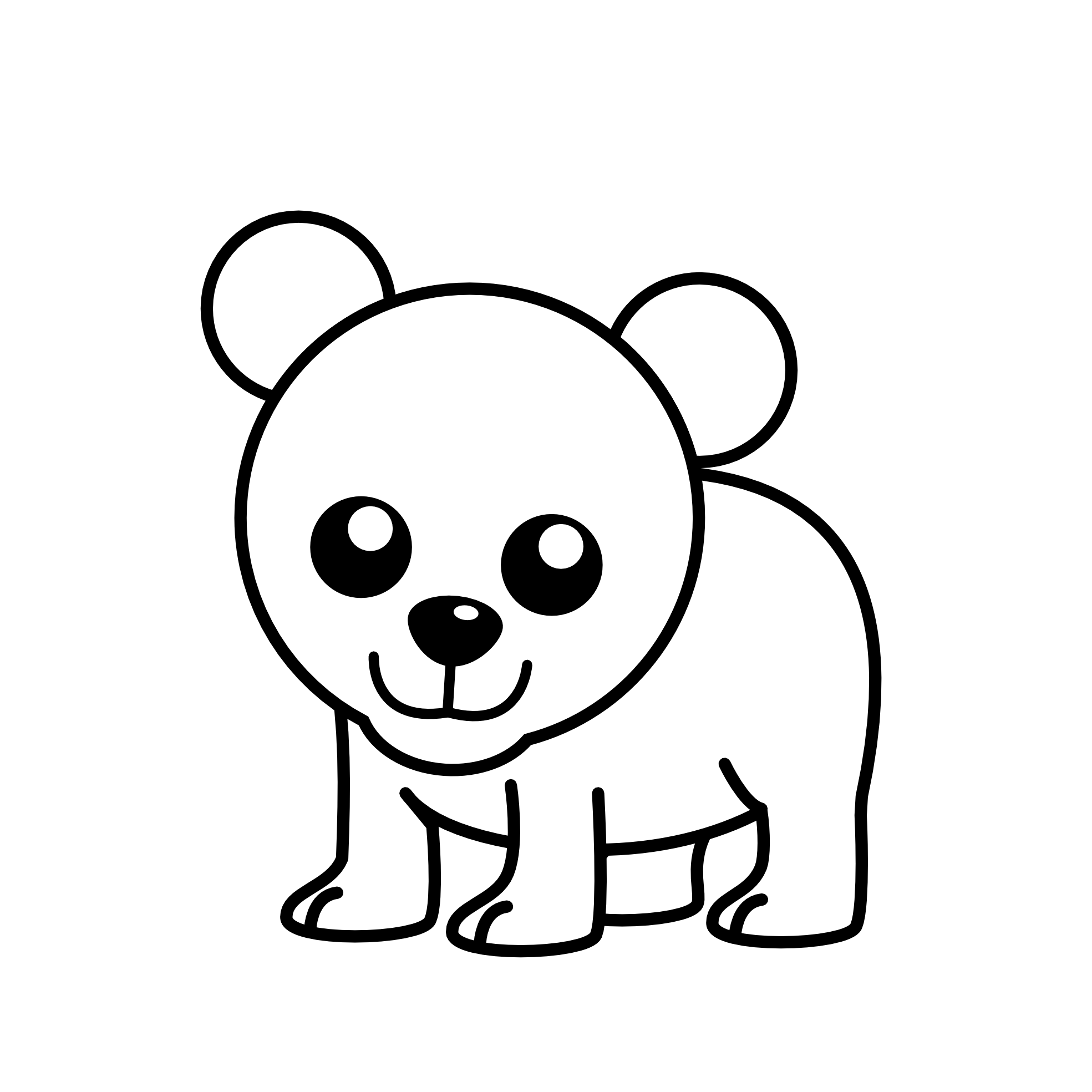 Free Bear Cub Clipart Black And White, Download Free Clip.