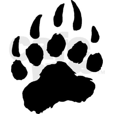 Bear paw print bear cub paw print clip art.