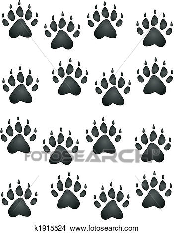 Bear Paw Print Clipart.