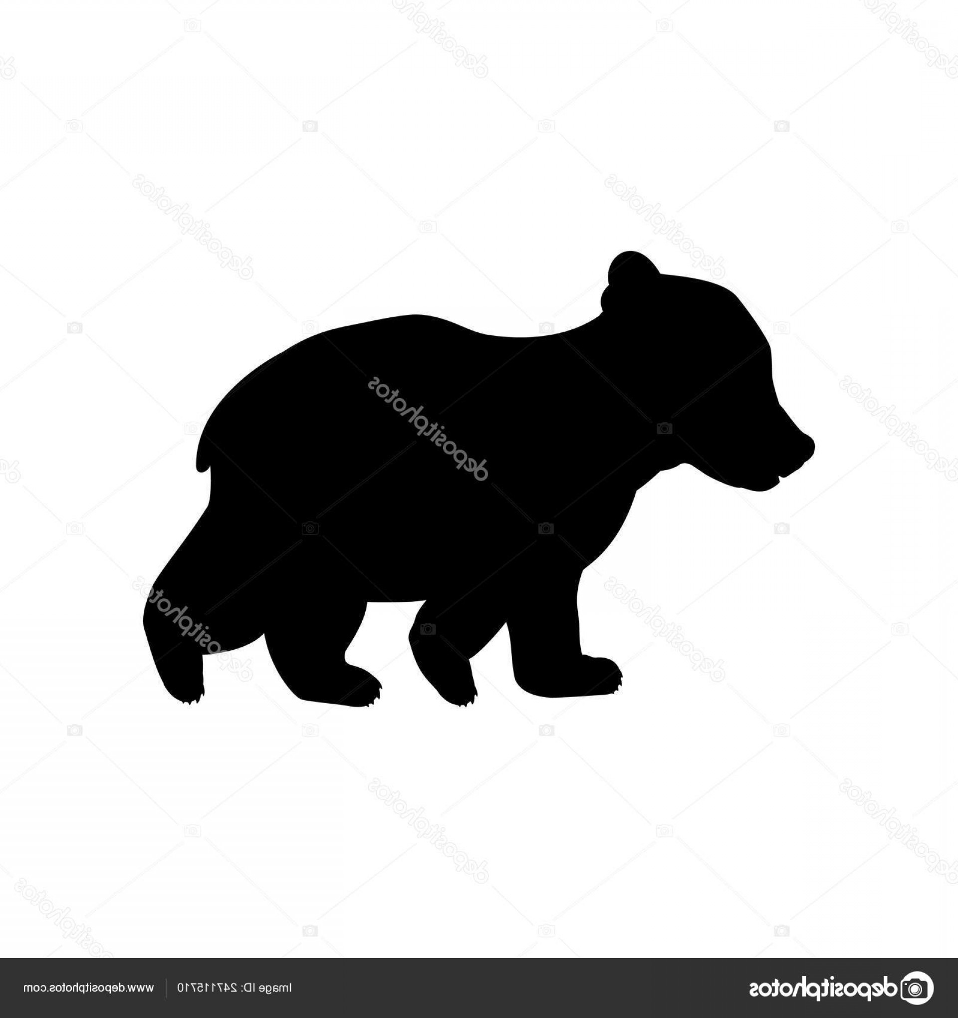 Bear Cub Clip Art Vector.