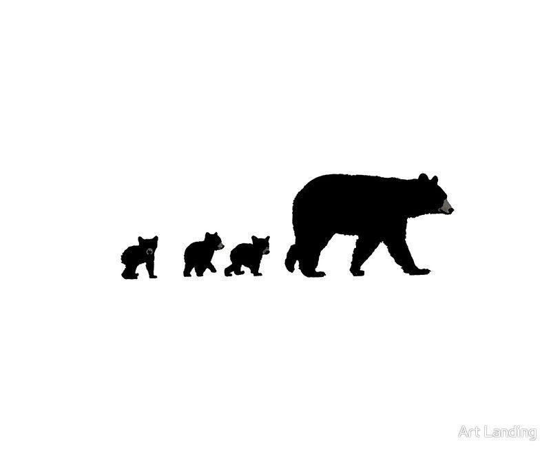 Mama Bear et ses louveteaux.' Impression artistique by Art Landing.