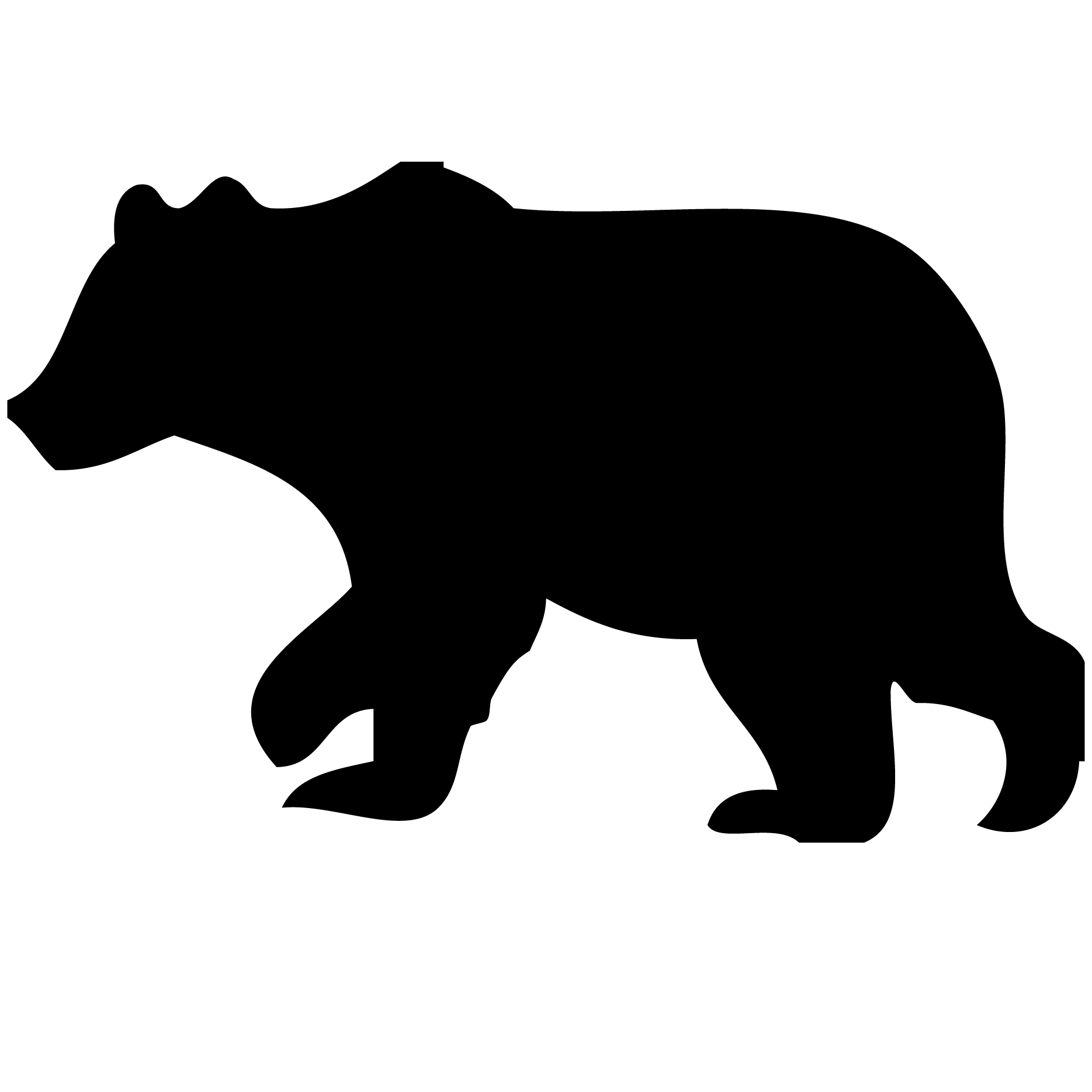 American black bear Polar bear Silhouette Clip art.