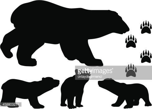 brown bear cub outline clipart.