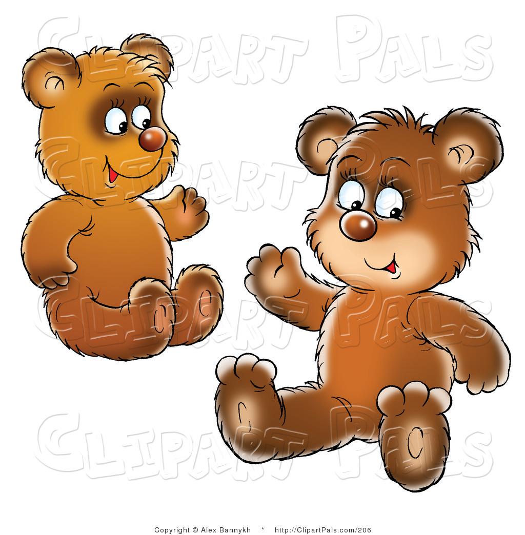 Black Bear Cubs Clipart.