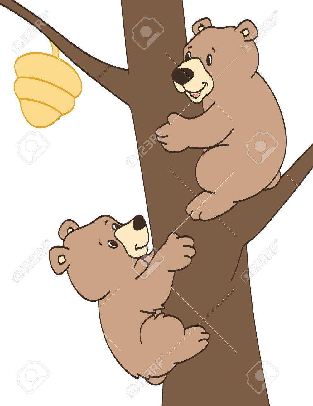 Bear cubs clipart.