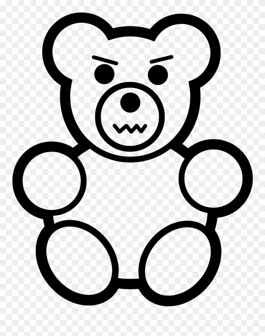 Easy Teddy Bear To Draw Clipart (#1871327).