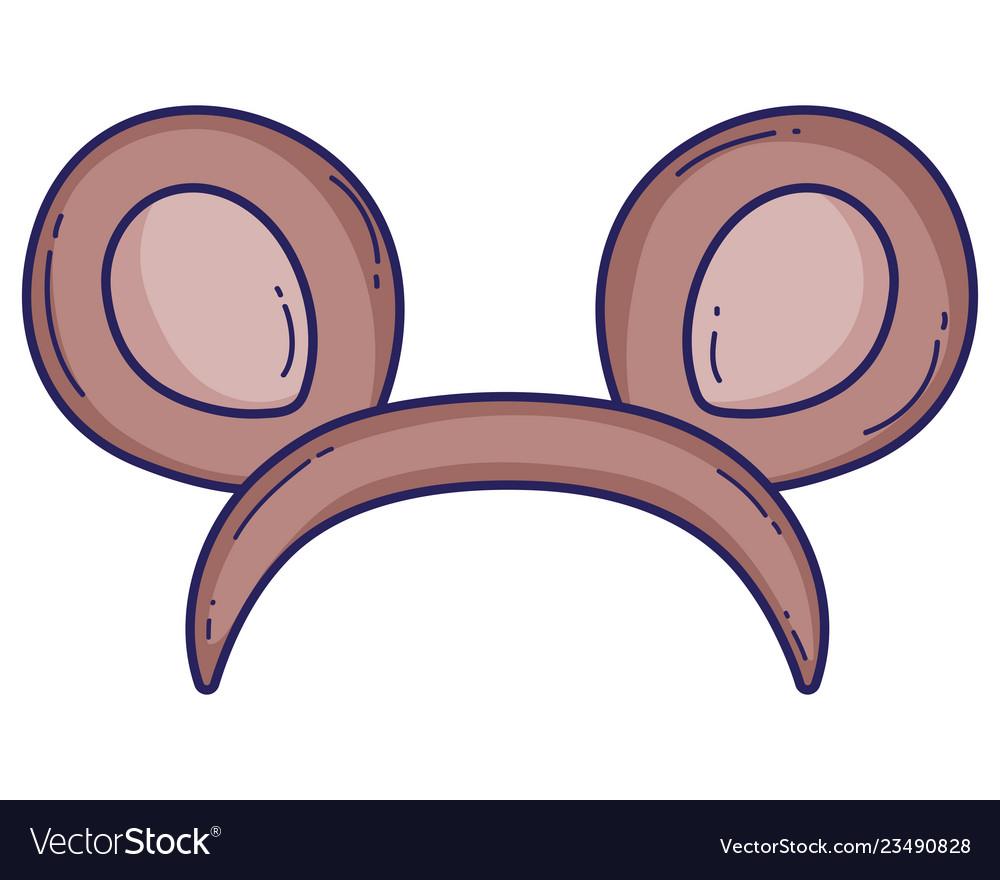 Bear ears headband cartoon.