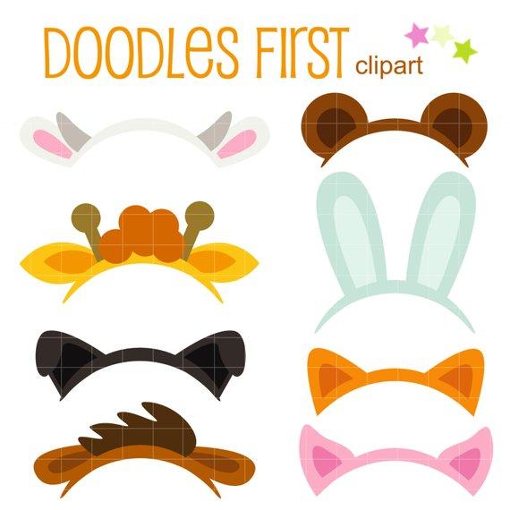 Animal Ears Digital Clip Art for Scrapbooking Card Making Cupcake.