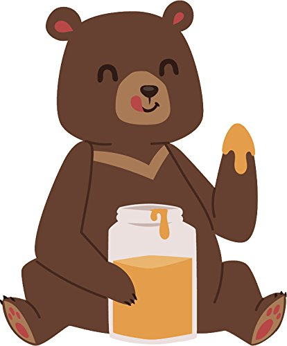 Amazon.com: Cute Happy Wild Brown Bear Doing Activity Cartoon Vinyl.