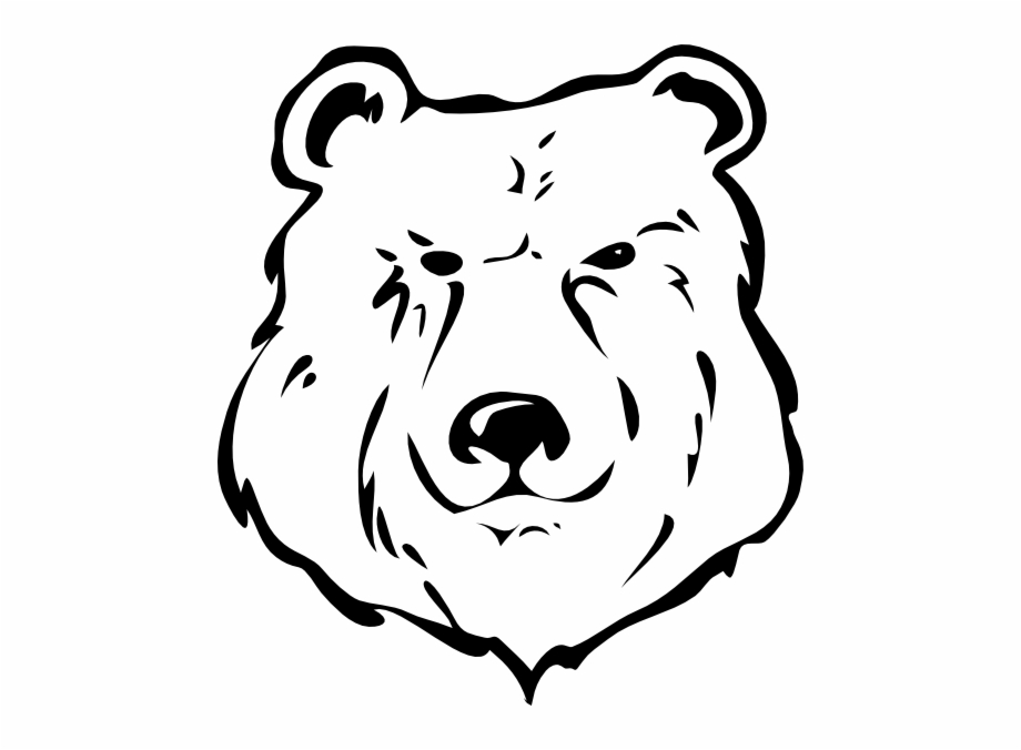 Bear Black And White Clip Art At Pngio.