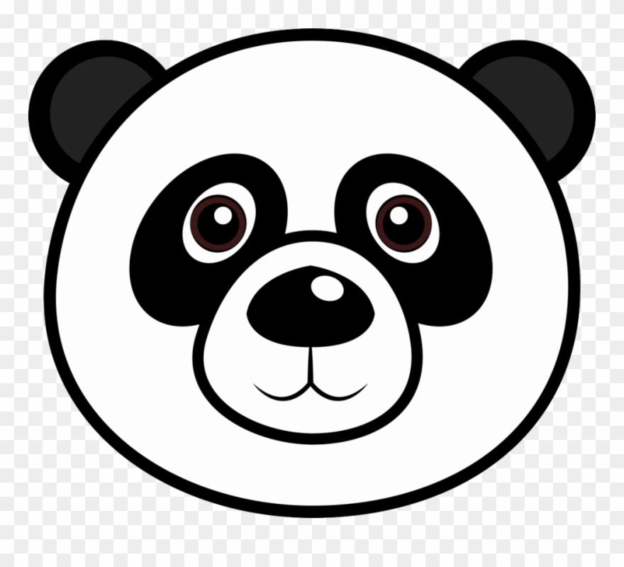 Panda Bear Face Coloring Page Clipart (#1461951).