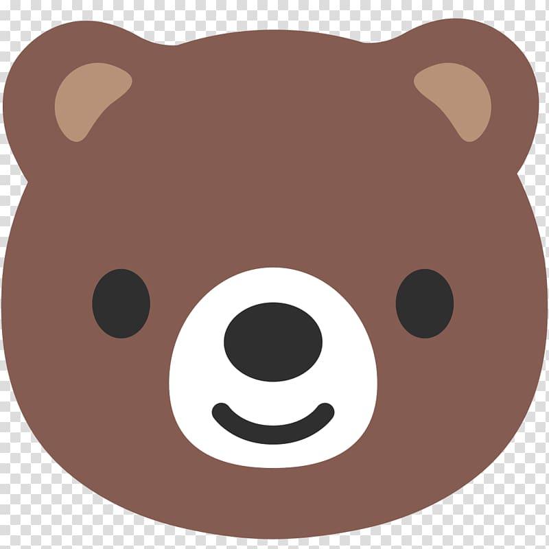 Bear Emoji Android Noto fonts , bear transparent background.