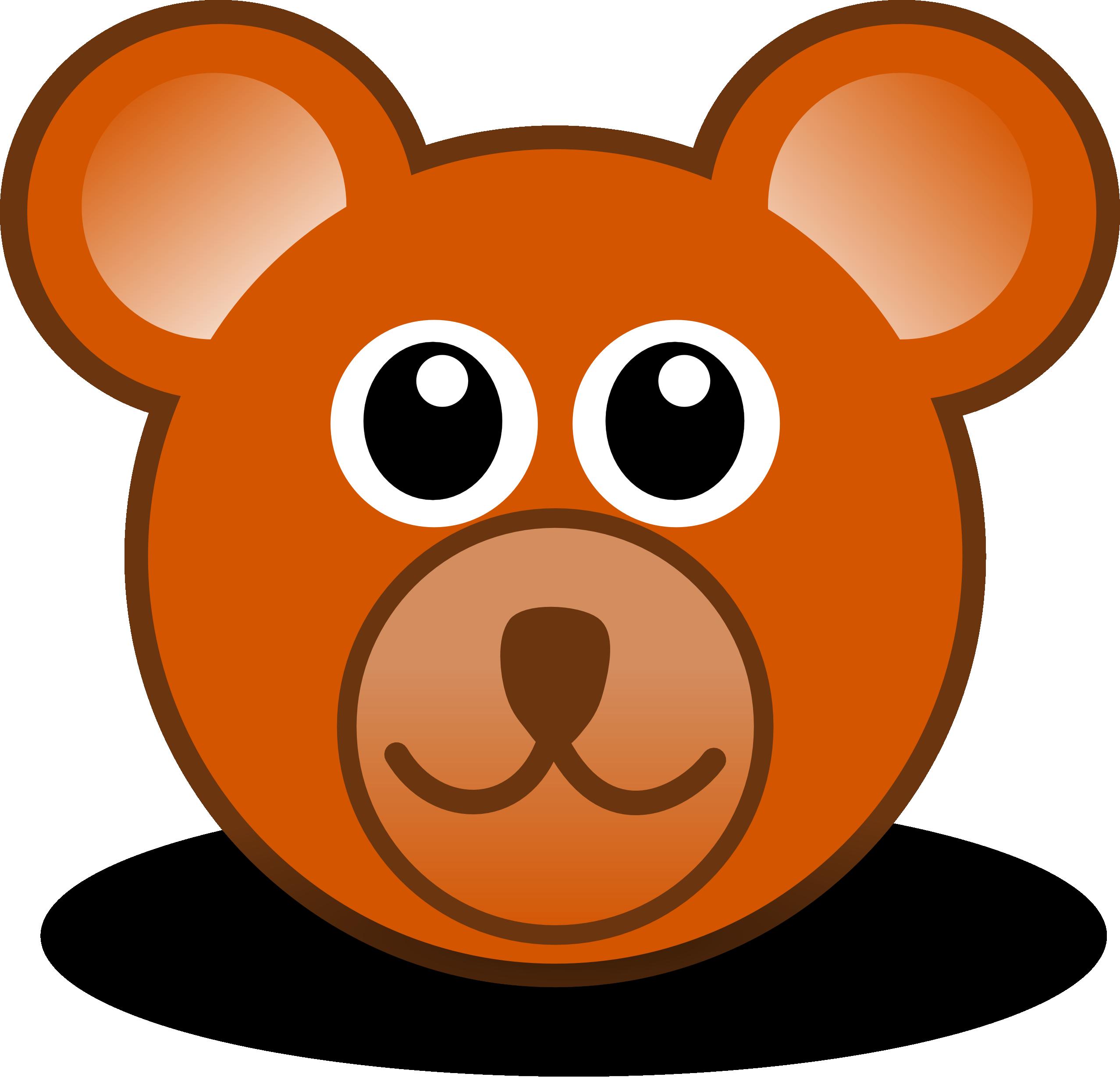 Teddy Bear Face Clip Art N8 free image.
