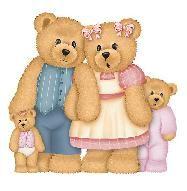 Teddy bear family clipart.