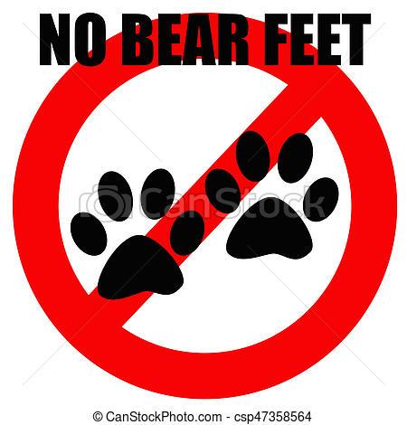 no bear feet.