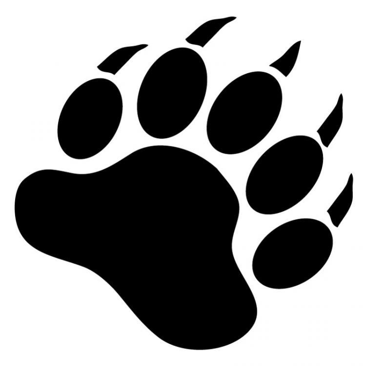 391 Bear Paw free clipart.