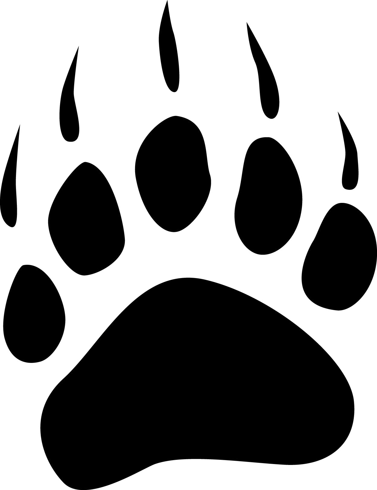 Free Bear Foot Print, Download Free Clip Art, Free Clip Art.