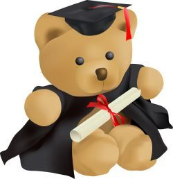Teddy Bear Graduation clip art.