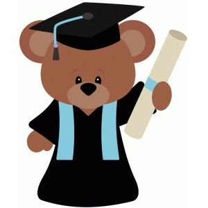 Silhouette Design Store: graduation school bear.