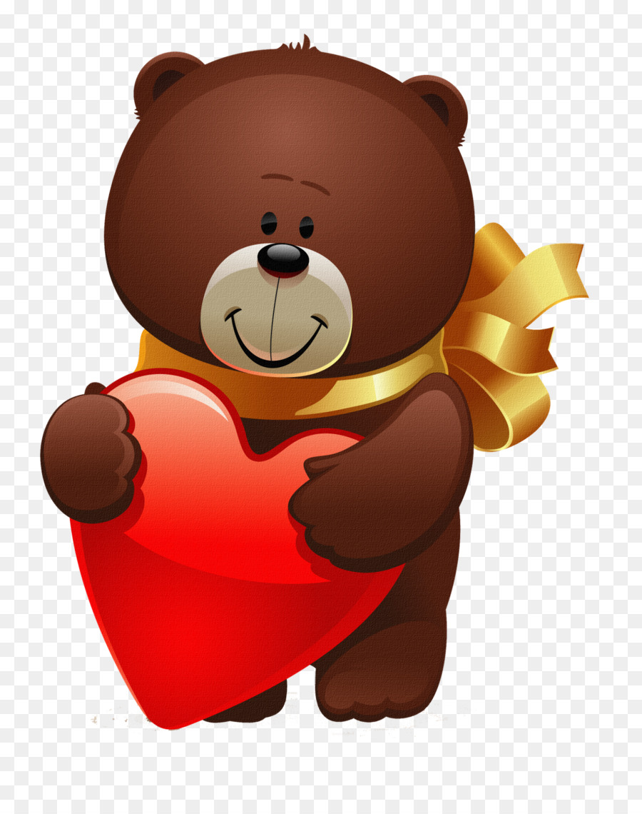 Valentine\'s Day Bear Greeting Propose Day Clip art.