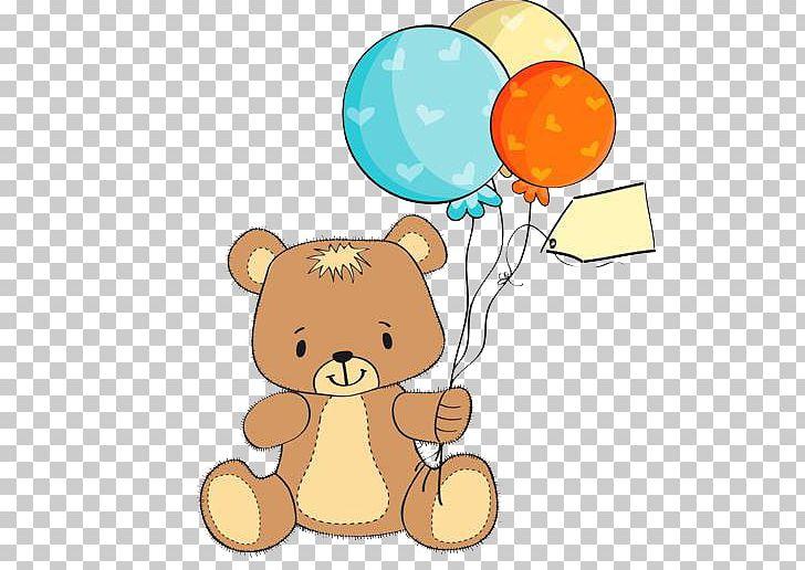 Teddy Bear Wedding Invitation Baby Shower Greeting Card PNG.