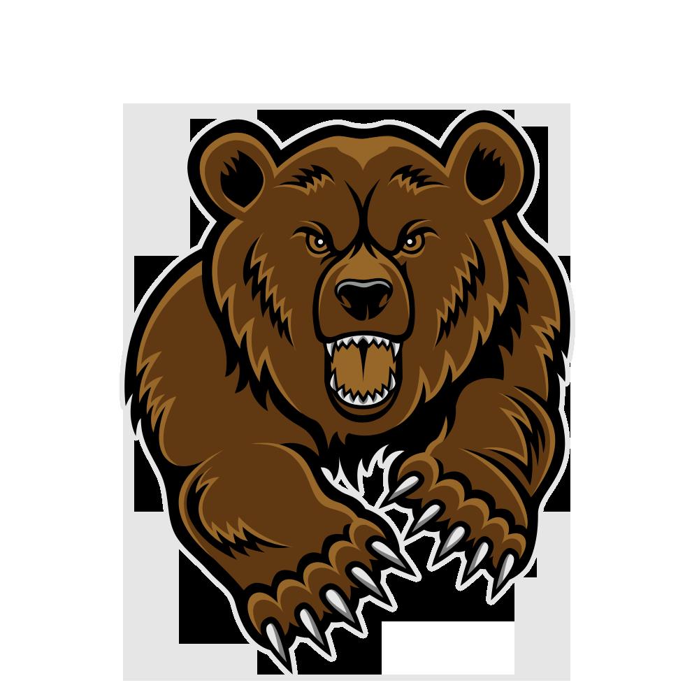 Bear Head Clip Art.